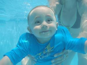 Nicolás disfrutando del buceo libre :)
