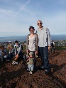 Family en arthur seat